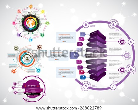 Timeline Infographics. Vector design template. - stock vector