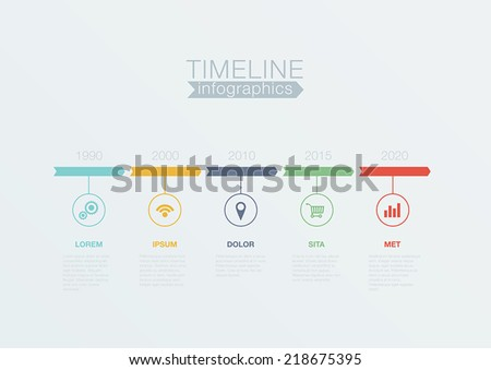 Timeline Infographics vector design template for business financial reports, website, infographic statistics. Editable. - stock vector