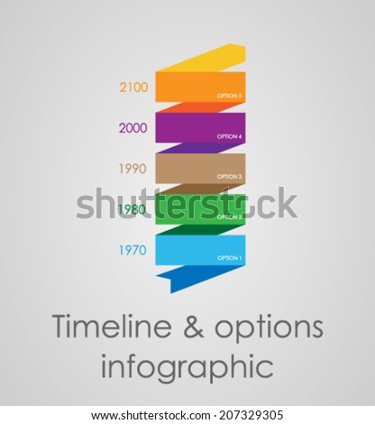 Timeline & options infographic. - stock vector