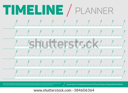 timeline planner template stock vector royalty free 384606364