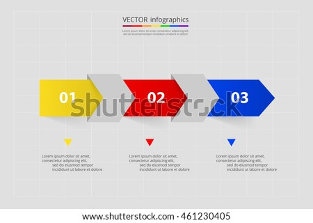 Timeline template for diagram, graph, presentation and chart. Business concept with 3 options, parts, steps or processes.
