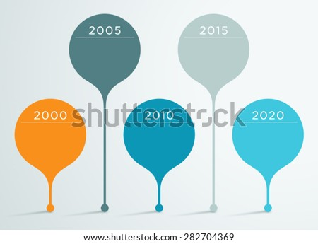 Timeline Vector 3d Infographic 3  - stock vector