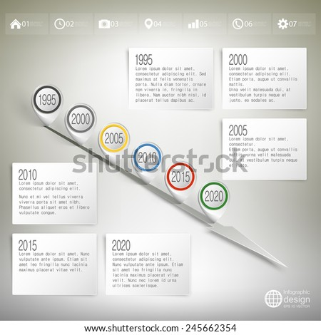 Timeline Pointer Marks Infographic Business Design Stock Vector