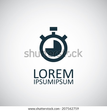 timer icon, isolated, black on the white background. Vector - stock vector