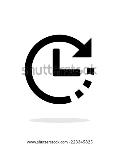 Timer icon on white background. Vector illustration. - stock vector