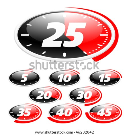 Timer icons. Vector. - stock vector