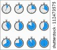Timer icons, vector eps10 illustration - stock photo