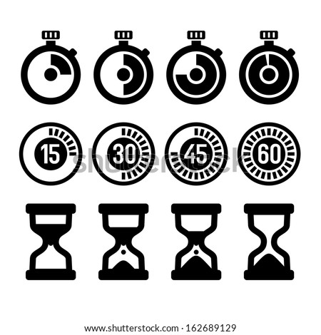 Timers icons set - stock vector