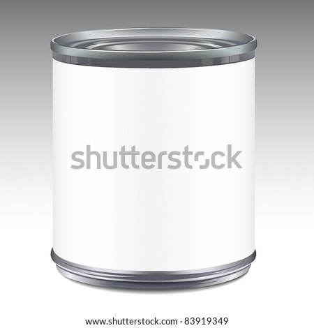 Tin can - stock vector