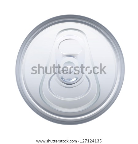 Tin on top. Vector design. - stock vector
