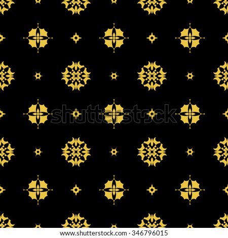 Tints of Black and Gold Seamless pattern, Abstract Seamless pattern, Vector Seamless pattern. Repeating geometric, Seamless floral pattern - stock vector