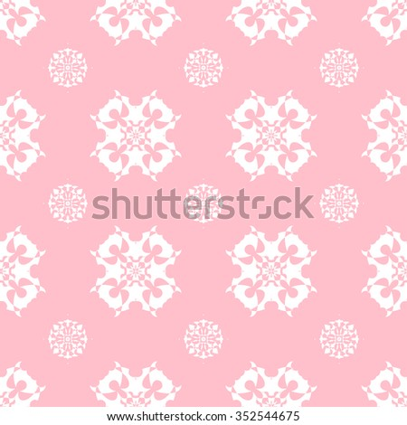 Tints of Pink Seamless pattern, Abstract Seamless pattern, Vector Seamless pattern. Repeating geometric, Seamless floral pattern