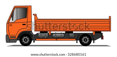 Tipping truck - stock vector