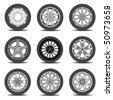 tire - stock vector
