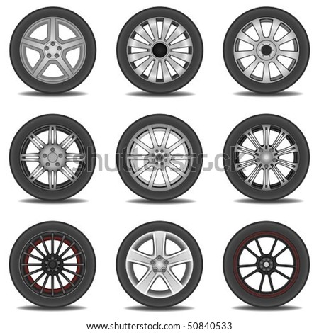 tire - stock vector