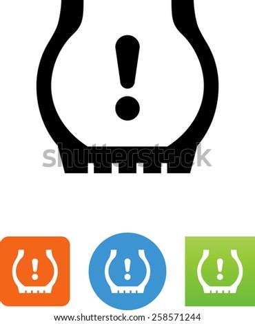 Tire Pressure Icon Stock Vector 258571244 Shutterstock