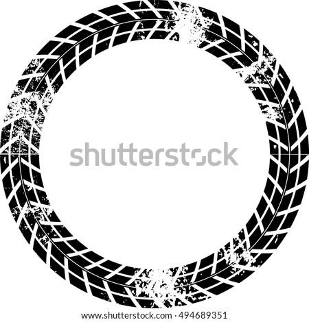 tire track vector round border frame stock vector 494689351 rh shutterstock com