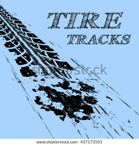 Tire tracks - stock vector
