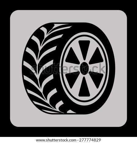 tire tracks design, vector illustration eps10 graphic  - stock vector