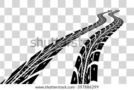 Tire tracks vector - stock vector
