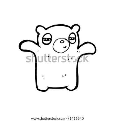 tired bear cartoon - stock vector