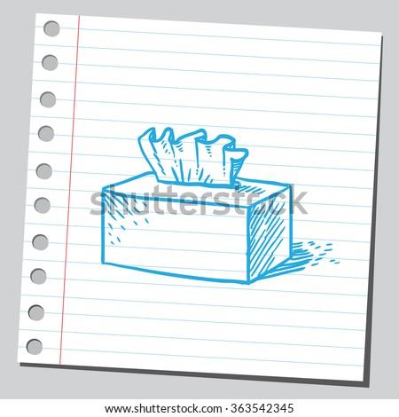 Tissue box - stock vector
