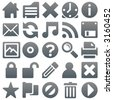 Titanium icons 2 - stock vector