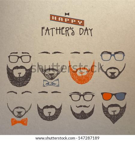 Title: Set of beards - stock vector