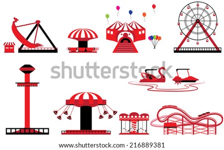Title: Set of Theme park and Amusement Description: Set of Theme park and amusement vectors - stock vector