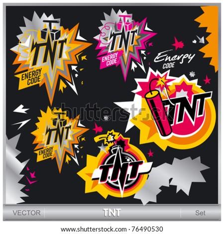 TNT illustrations set - stock vector