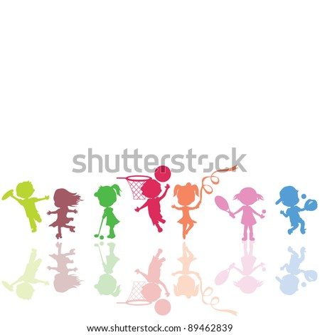 to be used as background, children holiday, sports and play - stock vector
