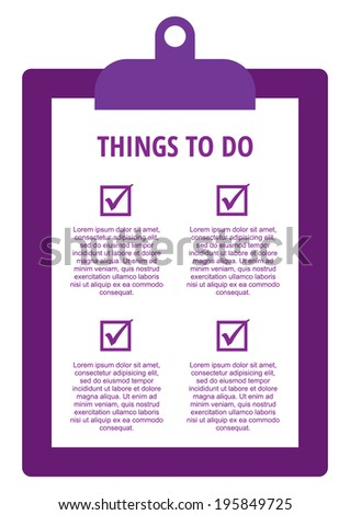 To Do Check list form in vector - stock vector