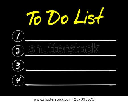 TO DO LIST blank list, business concept - stock vector