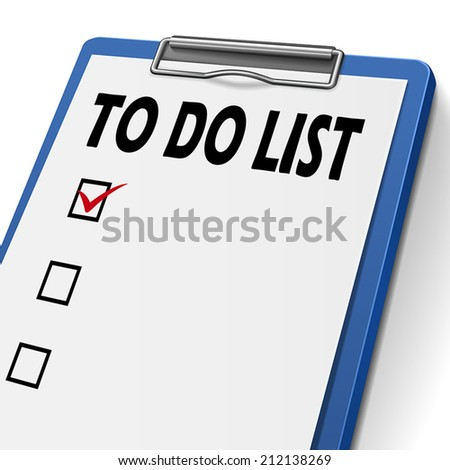 to do list clipboard with check boxes on it - stock vector