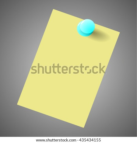 To Do list - Yellow post it notes with pin. Vector - stock vector