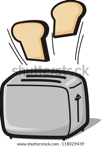 Toaster cartoon vector illustration