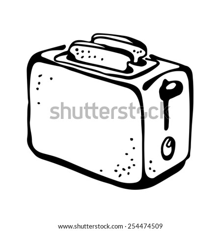 Toaster drawing - stock vector