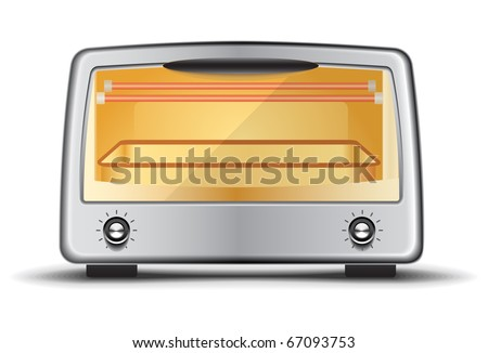 Toaster oven - stock vector
