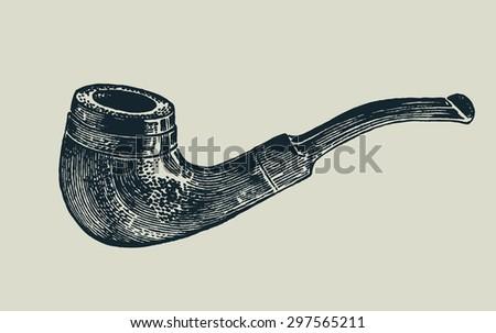 tobacco-pipe. vector illustration. - stock vector