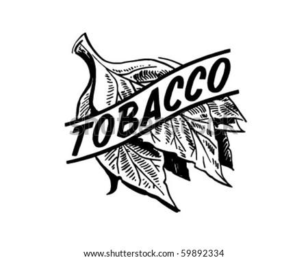 tobacco retro clip art stock vector 59892334 shutterstock rh shutterstock com tobacco plant clipart tobacco use clip art