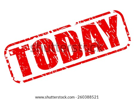Today red stamp text on white - stock vector