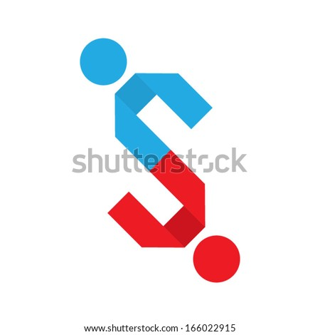 together concept based on the letter s - stock vector