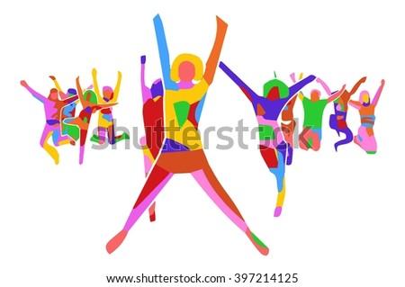 People Celebrating Stock Vectors & Amp Vector Clip Art