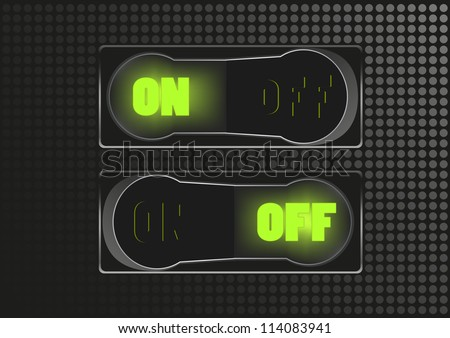 Toggle switch - stock vector