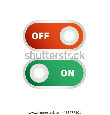 Toggle Switch Icon On Off Position Stock Vector 485479801 Shutterstock