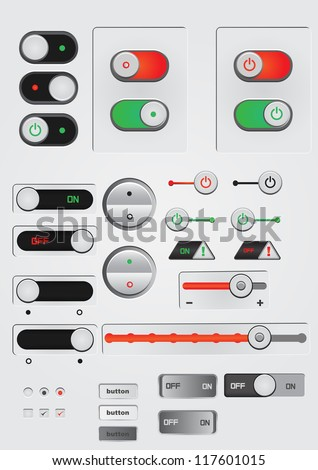 toggle switch on off button web decoration icon sets neutral colours