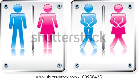 Toilet and Restroom sign high quality vector design