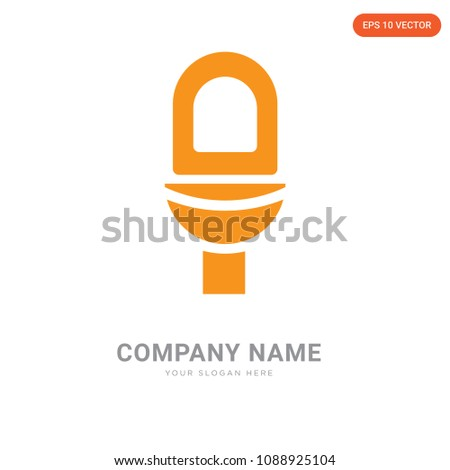 toilet company logo design template business stock vector 1088925104