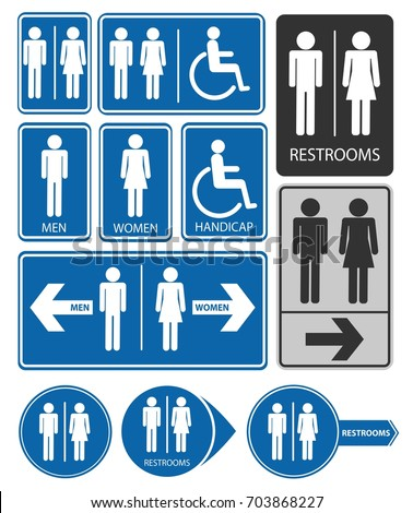 toilet entrance signs men women disabled stock vector royalty free