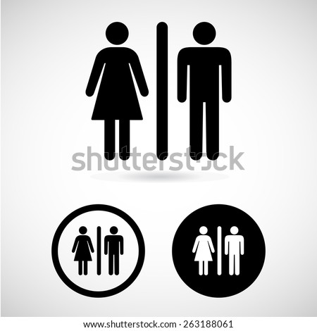 toilet icon great for any use. Vector EPS10. - stock vector